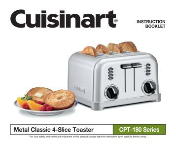 cuisinart toaster cpt-160 manual