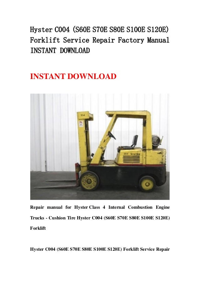 hyster forklift service manual books