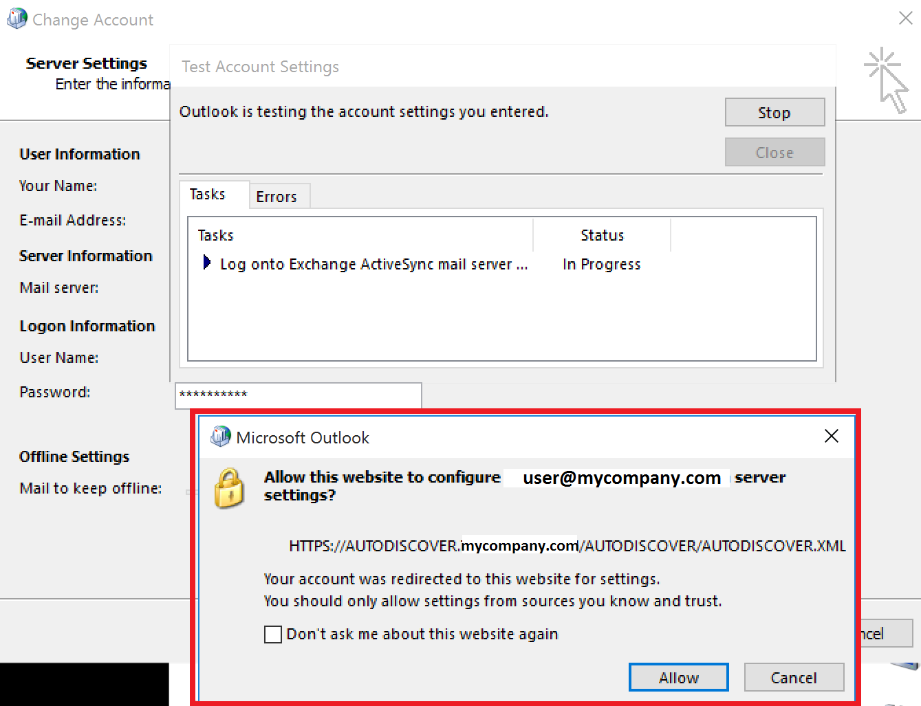 outlook 2016 manually without autodiscover
